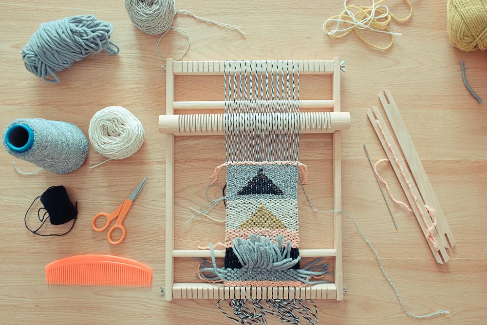 ateliers tissage chez fifi joli pois planb par morganours. Black Bedroom Furniture Sets. Home Design Ideas