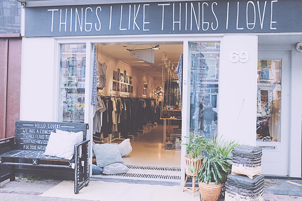 Things I like things I love - Amsterdam city guide