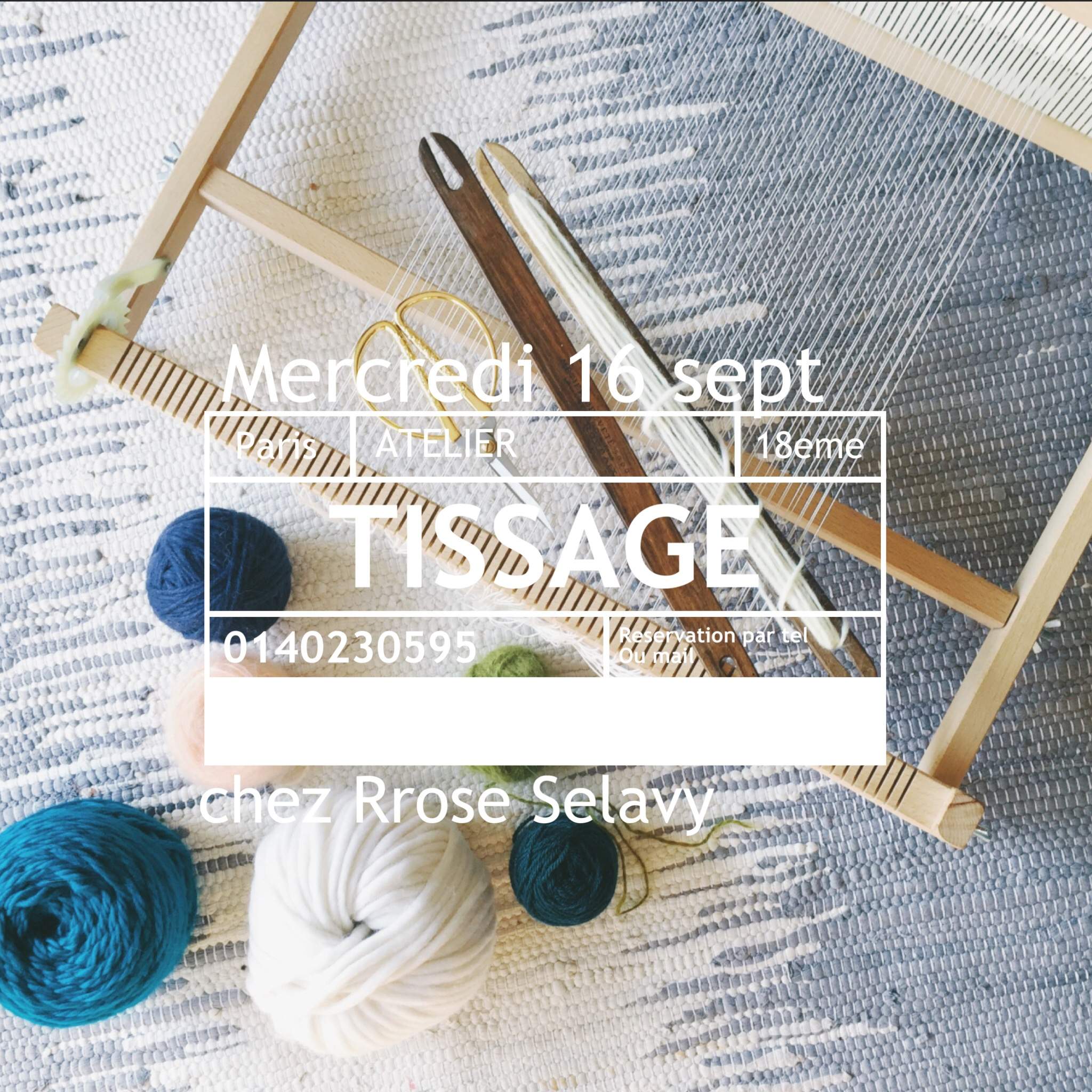 atelier tissage Paris