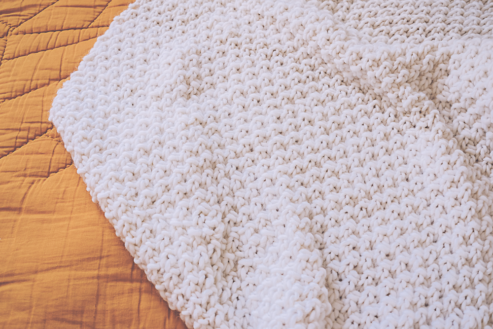tuto tricot couverture chunky