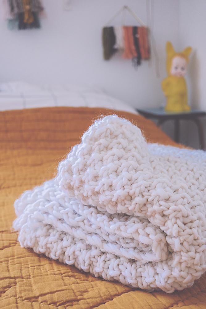 Oh mon chunky plaid planb par morganours - Couverture tricot grosse maille ...