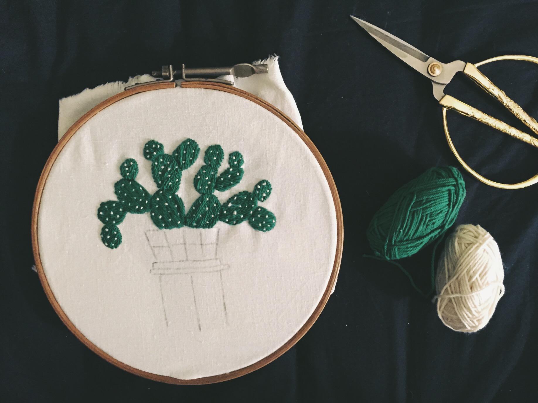 patron broderie cactus Sarah k. Benning