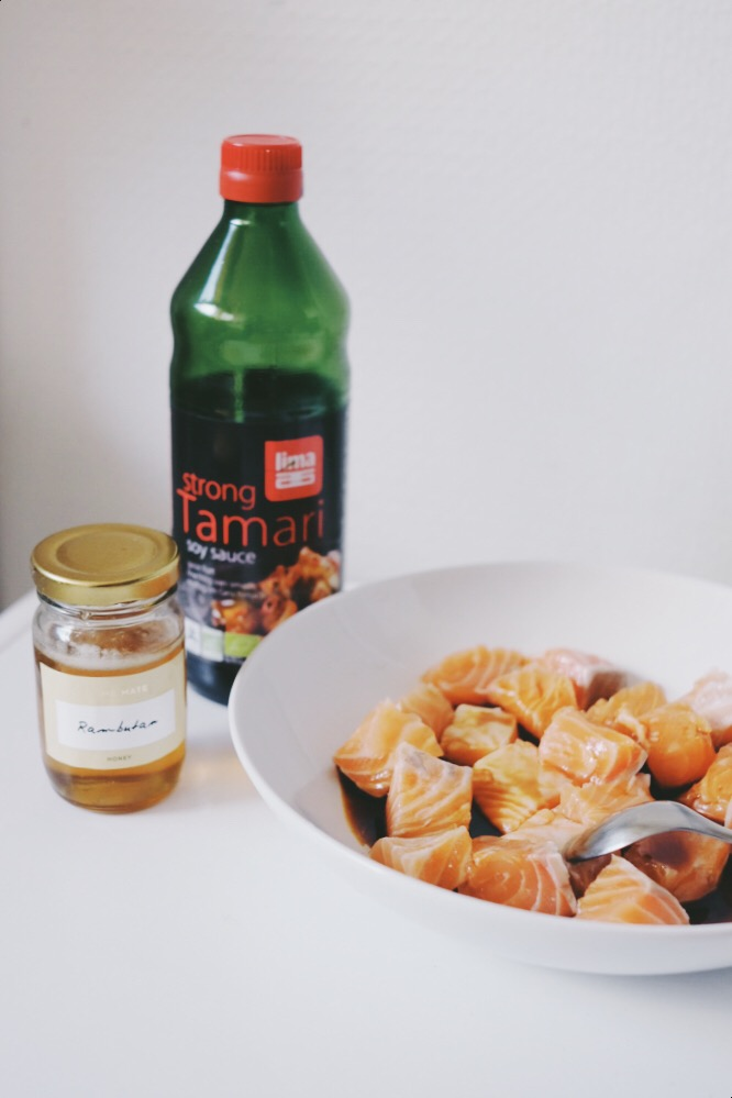 recette saumon yakitori