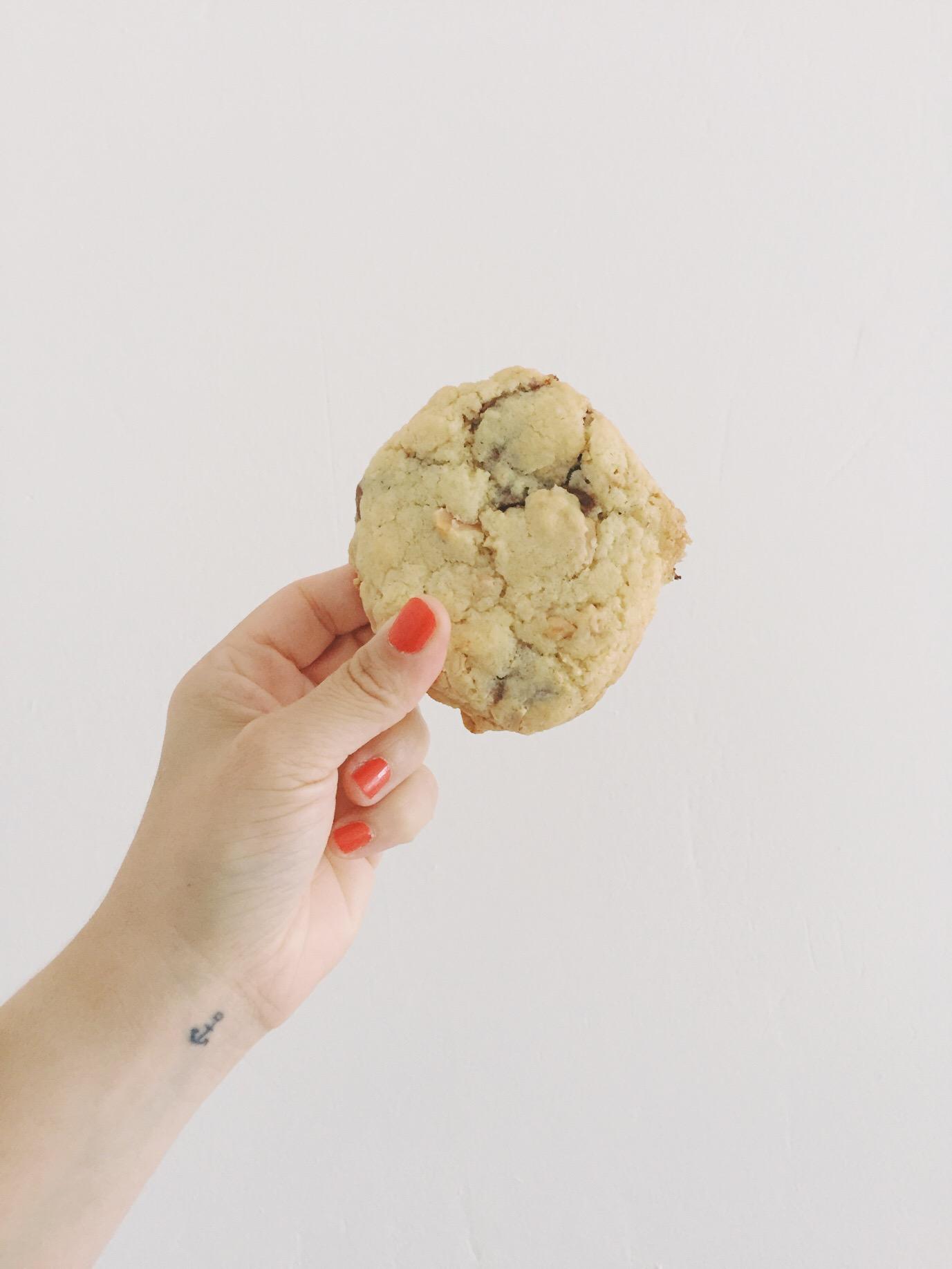 recette de cookies chocolat au lait cacahuete