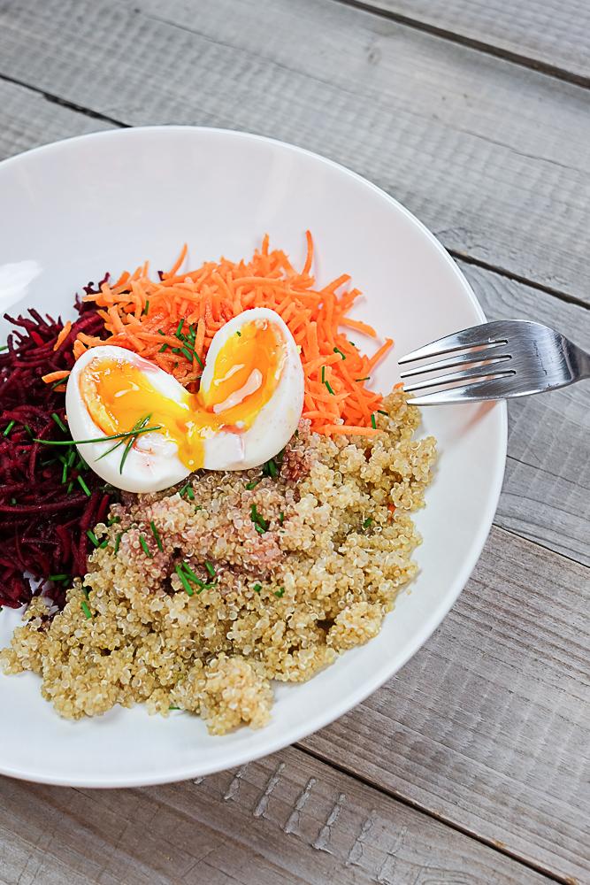 recette salade d'été au vinagre à la pulpe de framboise Hédiard