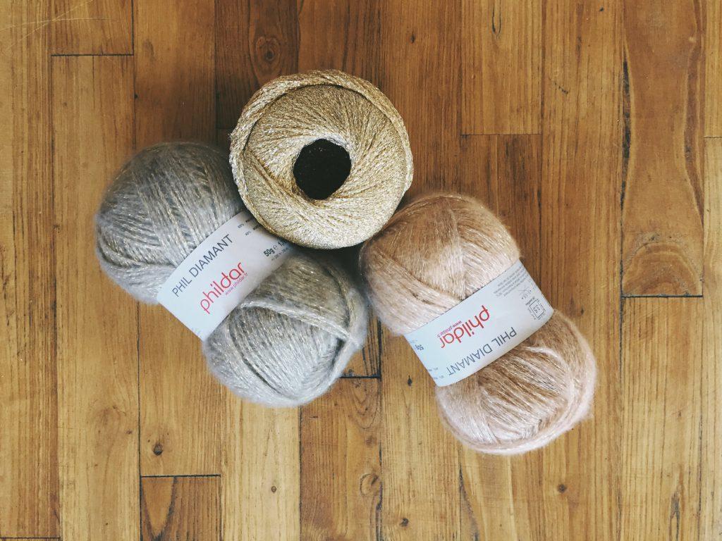 sélection de laines pour tissage