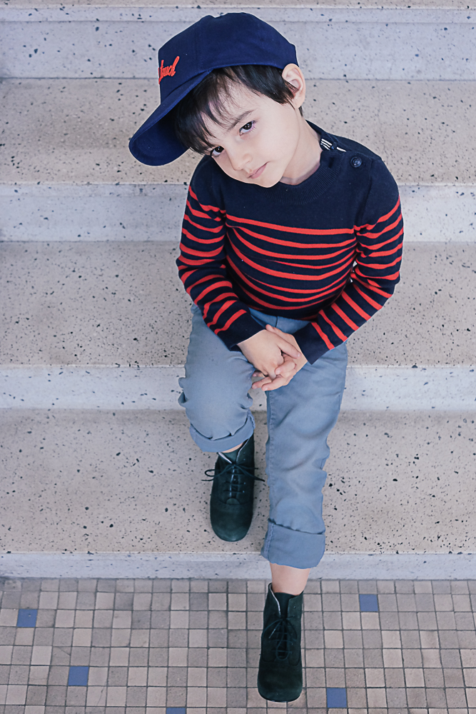 mini look en bottines vertes