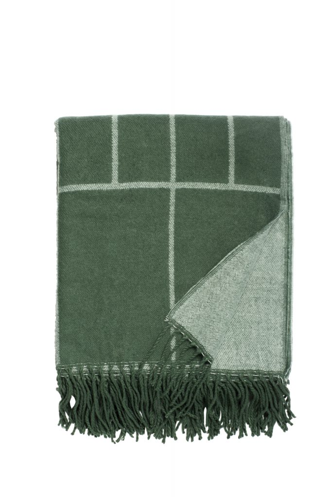 SostreneGrene_SpringCollection2017_Faux wool throw (green)