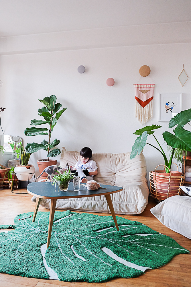 tapis feuille de monstera par Lorena Canals