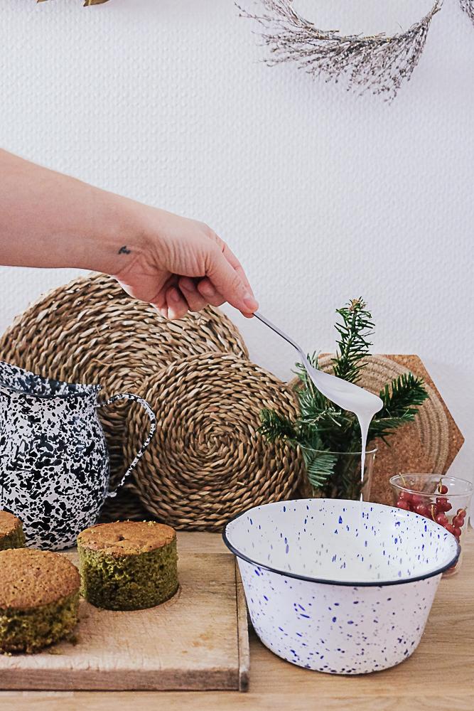 recette de moelleux de Noël au thé matcha