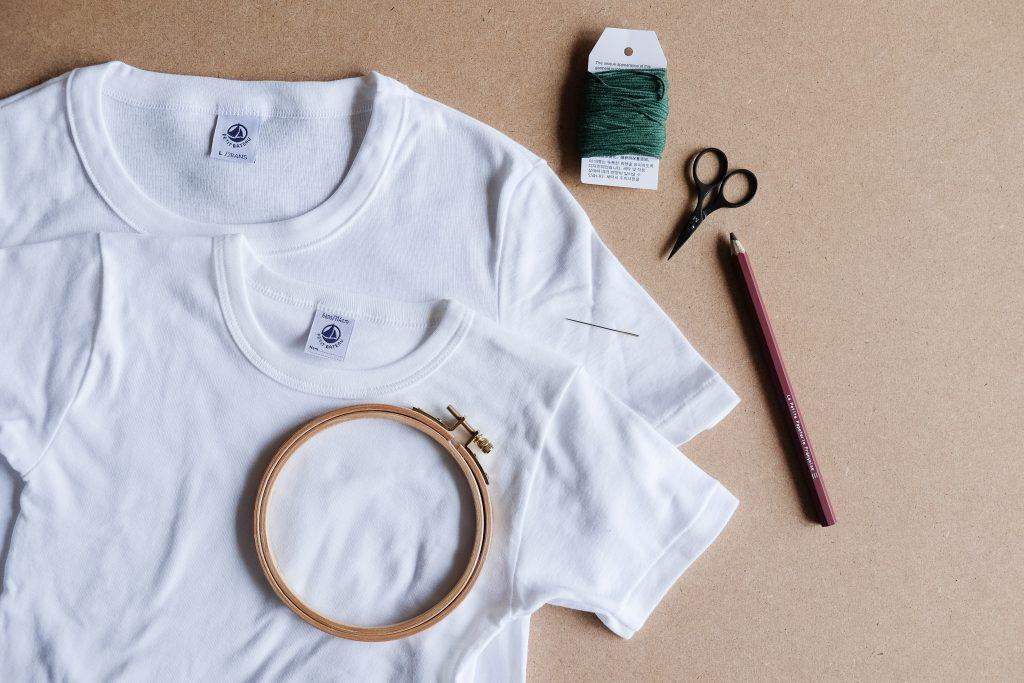 DIY broderie de t.shirt