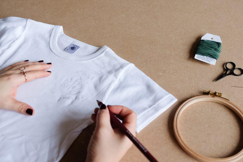 DIY broderie t.shirt
