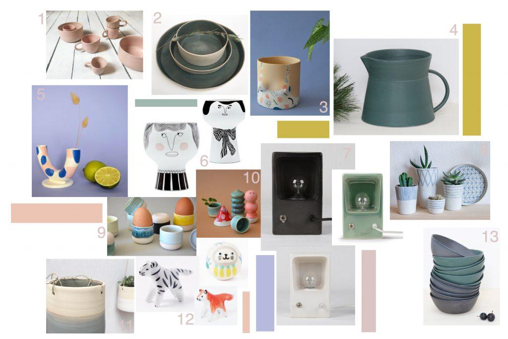 sélection objets déco en céramique